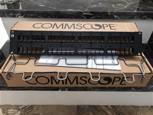 PATCH PANEL 48 PORT CAT6 COMMSCOPE/AMP 760237041 | CPP-UDDM-SL-2U-48